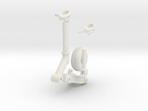 Seaking Tail Wheel Century - in White Natural Versatile Plastic