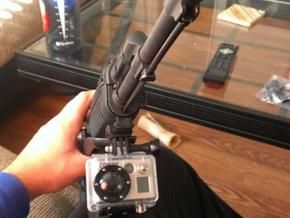 A&R GoPro Picatinny Rail Mount in White Processed Versatile Plastic