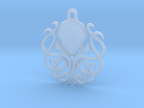 Tribal Cthulhu Pendant in Smooth Fine Detail Plastic