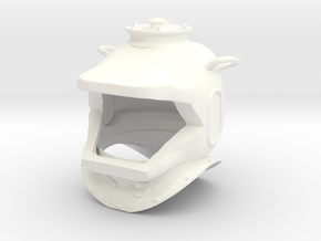 Nautilus Helmet Capped Earholes in White Strong & Flexible Polished