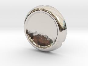 Kanoka disk in Rhodium Plated Brass