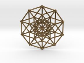 Penteract - 5d Hypercube - E5 in Polished Bronze
