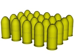 1/24 scale M-781 40x46mm grenades x 20 in Smooth Fine Detail Plastic