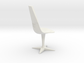 Swivel Chair (Star Trek Classic) in White Natural Versatile Plastic: 1:18