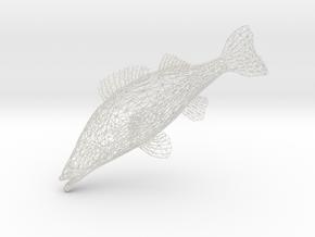 Fish in White Natural Versatile Plastic