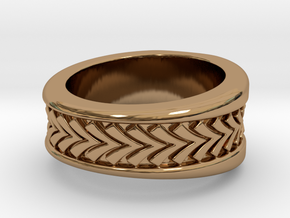 Spruce Ring S B in Polished Brass: 3 / 44