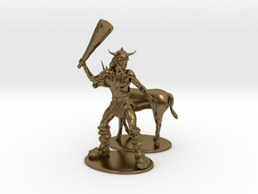 Bobby the Barbarian & Uni Miniatures in Natural Bronze: 1:60.96