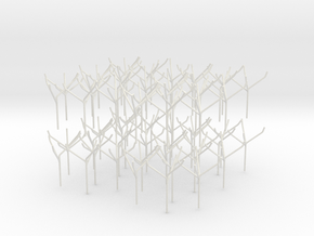 Architects Tree 2 scale 1-200-1-250 x60  in White Natural Versatile Plastic: 1:200