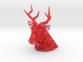 Deer Head wall mount in Red Processed Versatile Plastic