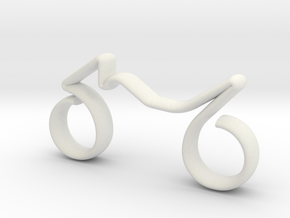Motorcycle scale 1-100 in White Natural Versatile Plastic: 1:100