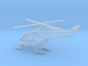 Helicopter scale 1-100 in Smooth Fine Detail Plastic: 1:100