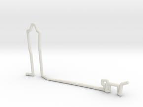 Man + Dog scale 1-100 in White Natural Versatile Plastic: 1:100