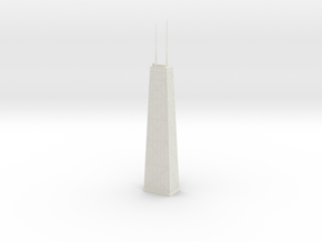 John Hancock Center (1:2000) in White Natural Versatile Plastic