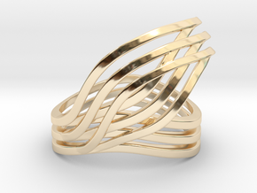 Leaves ring in 14K Yellow Gold