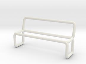 Bench scale 1-100 in White Natural Versatile Plastic: 1:100