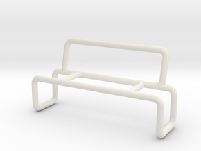 Bench 2 scale 1-100 in White Strong & Flexible: 1:100