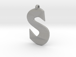 Distorted letter S in Aluminum