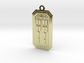 BABA OJUANI MEYI in 18k Gold Plated Brass