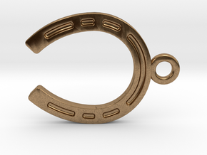 Horseshoe for luck in Natural Brass