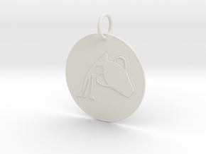 Aquarius Keychain in White Natural Versatile Plastic