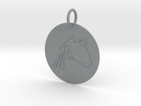Aquarius Keychain in Polished Metallic Plastic