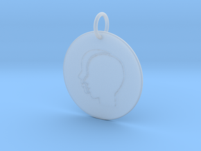 Gemini Keychain in Frosted Ultra Detail