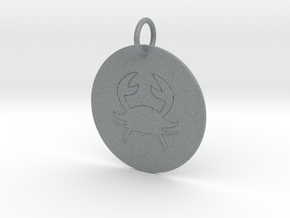 Cancer Keychain in Polished Metallic Plastic
