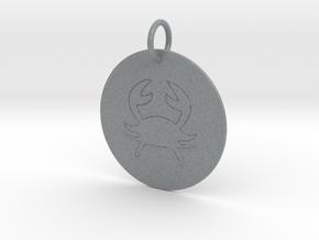 Cancer Keychain in Polished Metallic Plastic