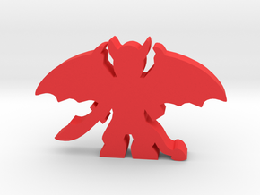 Game Piece, Demon Large, Spread Wings in Red Strong & Flexible Polished