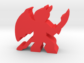 Game Piece, Demon Attack in Red Strong & Flexible Polished