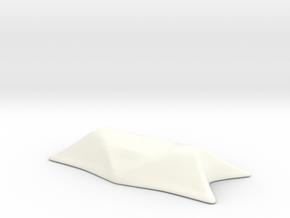 Chopstick Rest in White Processed Versatile Plastic