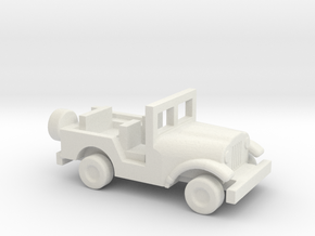 1/200 Scale M38A1 Jeep in White Natural Versatile Plastic
