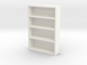 Bookcase in White Strong & Flexible Polished