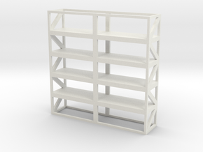 Industrial Shelf 5x5m scale 1-100 in White Natural Versatile Plastic: 1:100