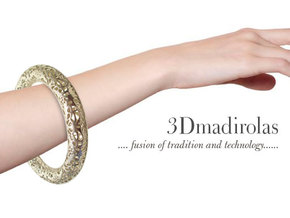 LACE bracelet. in Natural Silver