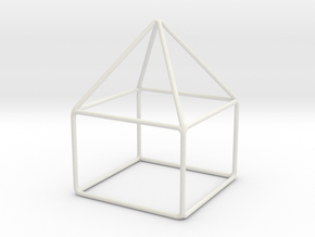 House scale 1-200 10x10x14m in White Natural Versatile Plastic: 1:200