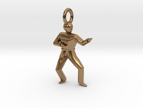 Pendant - Double Knifehand in Natural Brass