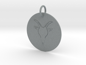 Capricorn Keychain in Polished Metallic Plastic