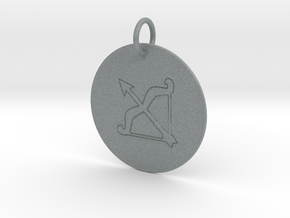 Sagittarius Keychain in Polished Metallic Plastic