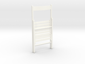 1:12 Chair wood folding.closed in White Strong & Flexible Polished