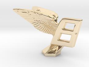 Hood Ornament for Bentley in 14K Yellow Gold