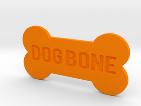 Dog Bone Button in Orange Processed Versatile Plastic