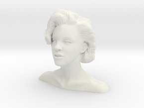 Marilyn Monroe bust in White Strong & Flexible