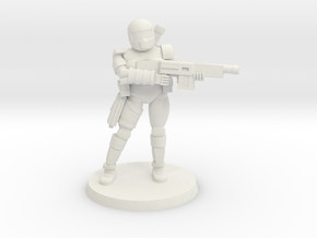 36MM Female Combat Armor in White Strong & Flexible