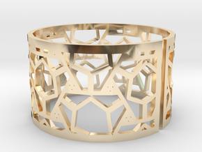 Bracelet AQ (2) in 14k Gold Plated Brass