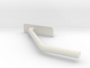 R44-6 R44 Tail Skid in White Natural Versatile Plastic