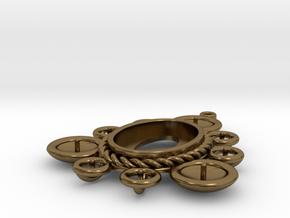 "Pendant ""Ursula"" in Polished Bronze: Small"