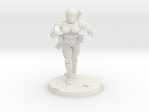 36mm Female Combat Armor 4 in White Natural Versatile Plastic