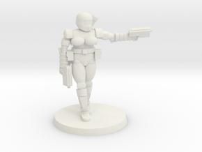 36mm Female Combat Armor 2 in White Natural Versatile Plastic