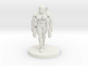 36mm Female Combat Armor 3 in White Natural Versatile Plastic